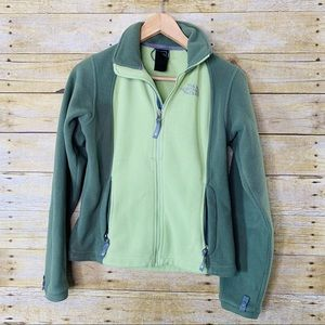 The North Face Fleece ZIP up Sweater Green Size XS
